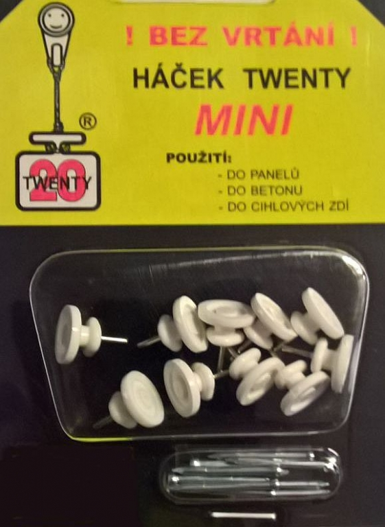 Háček TWENTY MINI 10 ks